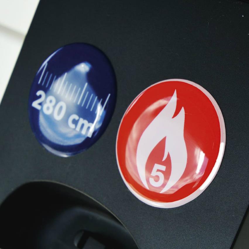 Doming sticker